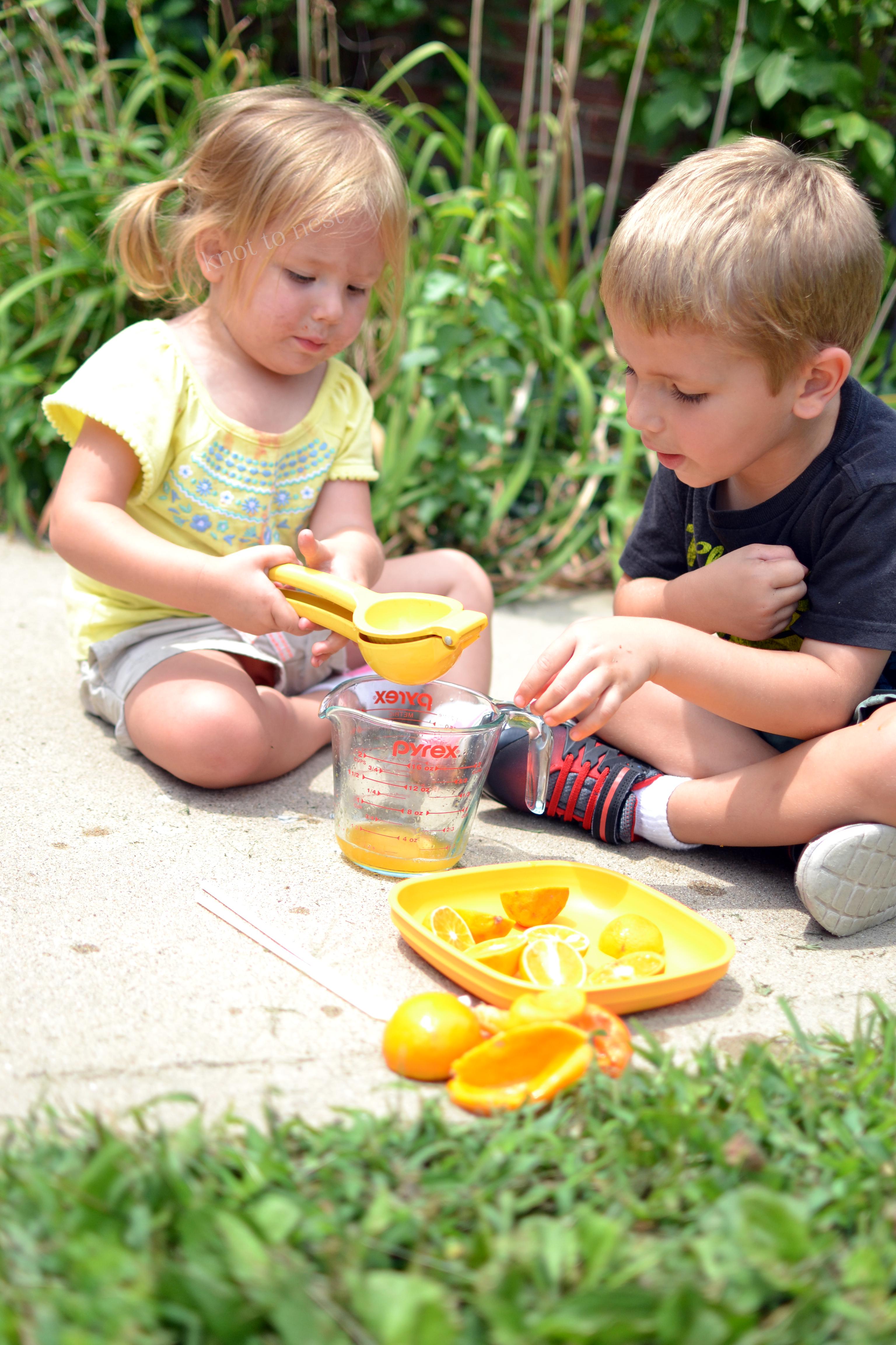 Easy summer toddler activity