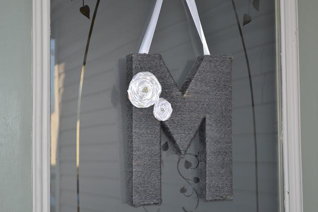 Easy, DIY front door decor